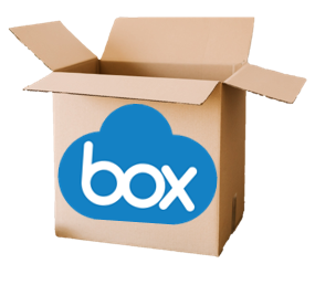 image of a box with the Box cloud icon