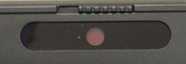 picture of laptop with privacy button over camera
